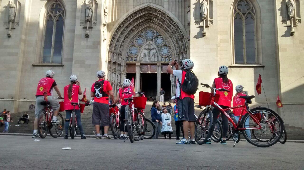 Bike Tour SP: Catedral da Sé é um dos pontos de parada. Foto: Rodrigo Caldas