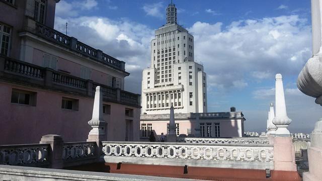 Prédio do Banespa a partir do edifício Martinelli. Foto: Patrícia Ribeiro/  Passeios Baratos em SP
