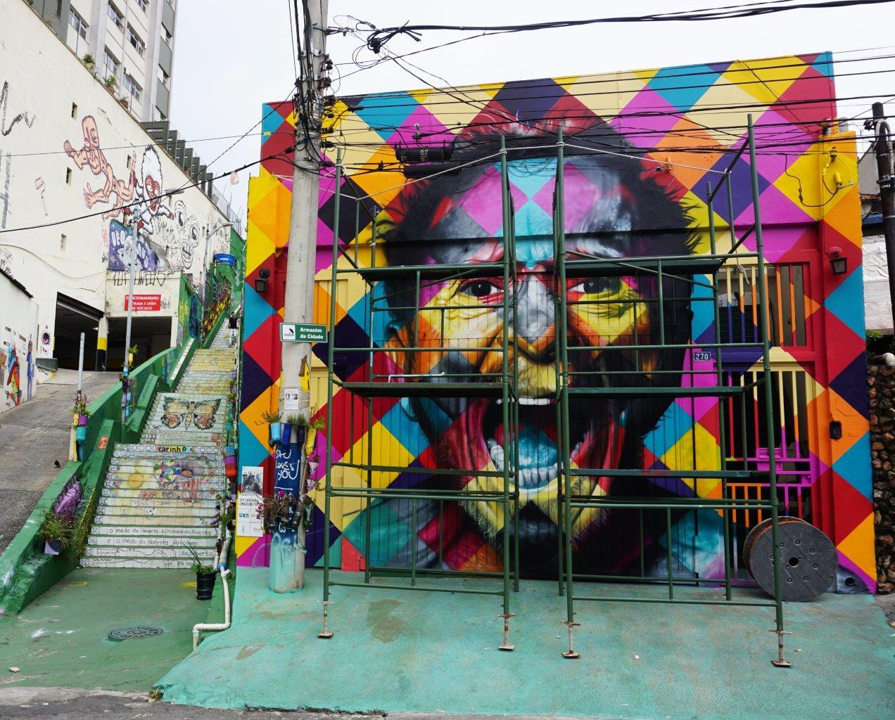 Eduardo Kobra mostra novo mural em homenagem ao Tom Zé