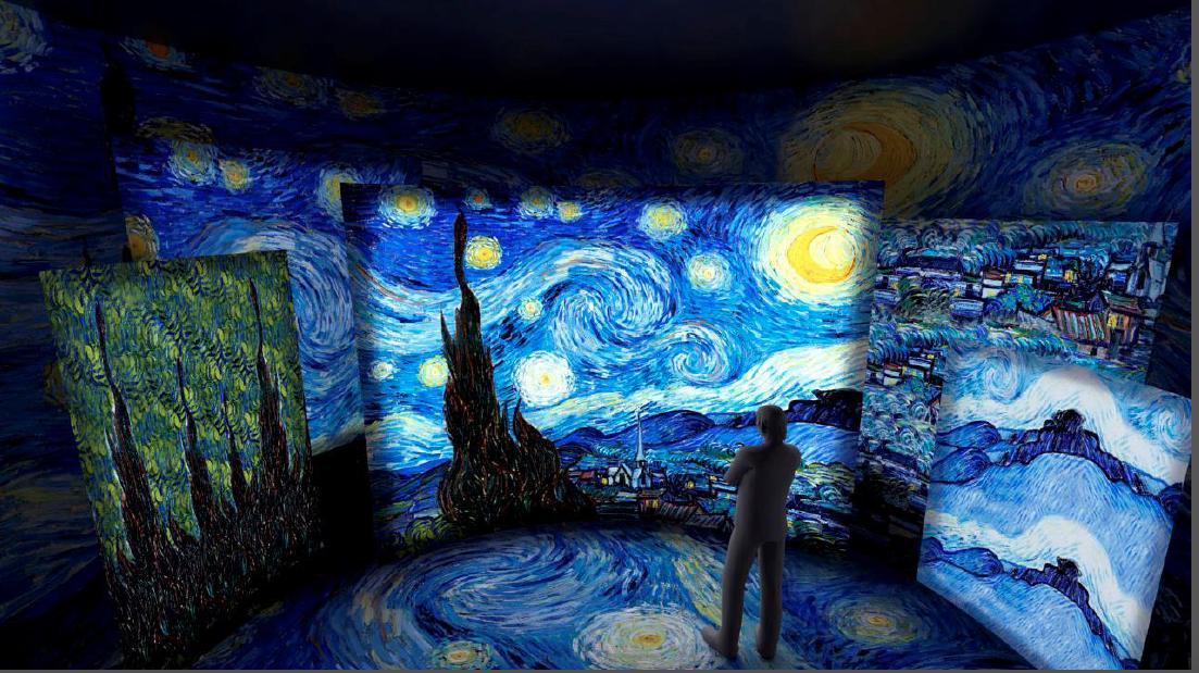 Exposição imersiva com paisagens de Van Gogh começa no Shopping Pátio Higienópolis